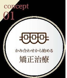 concept01 かみ合わせから始める矯正治療