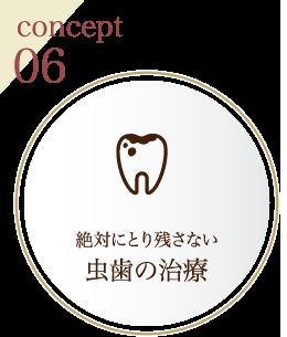 concept06 絶対にとり残さない虫歯の治療